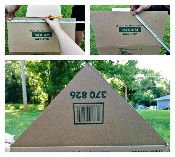 DIY Cardboard Cat House Tutorial step three