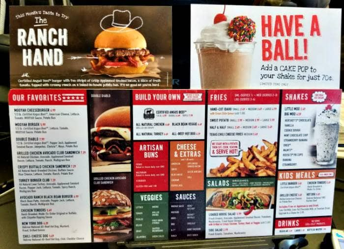 Mooyah Has Gourmet Burgers At Affordable Prices menu