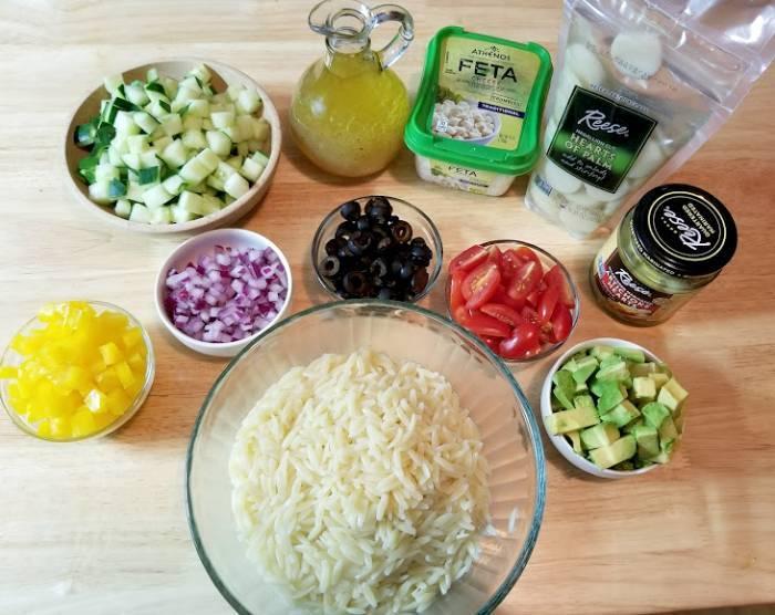 Mediterranean Orzo Salad With Homemade Citrus Vinaigrette ingredients
