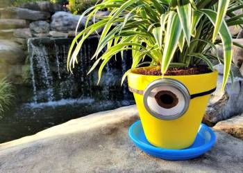 This Easy Minions Flower Pot Craft Is A Great Teacher Gift