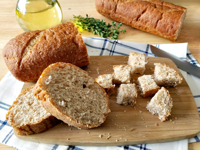 how to make croutons with brown bread