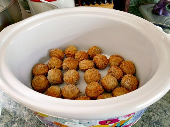 Slow Cooker Asian Sesame Turkey Meatballs step one