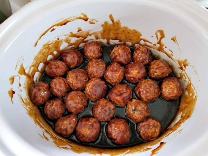 Slow Cooker Asian Sesame Turkey Meatballs step four