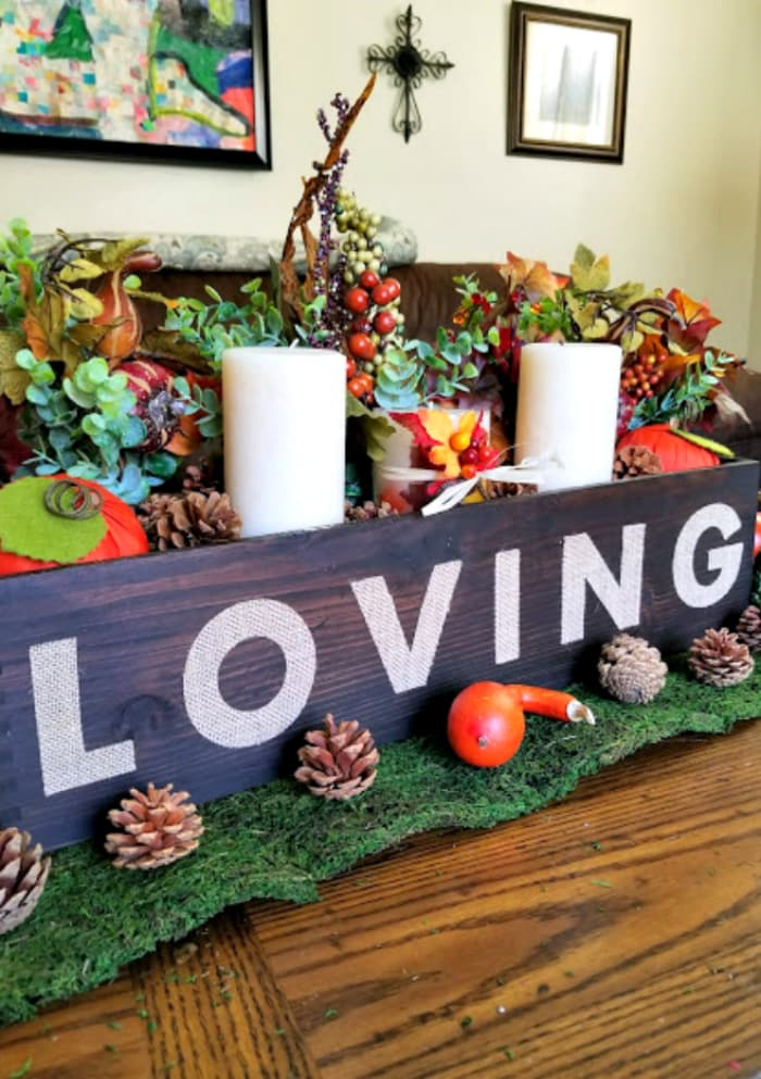 Easy Rustic Fall Or Thanksgiving Table Centerpiece 2