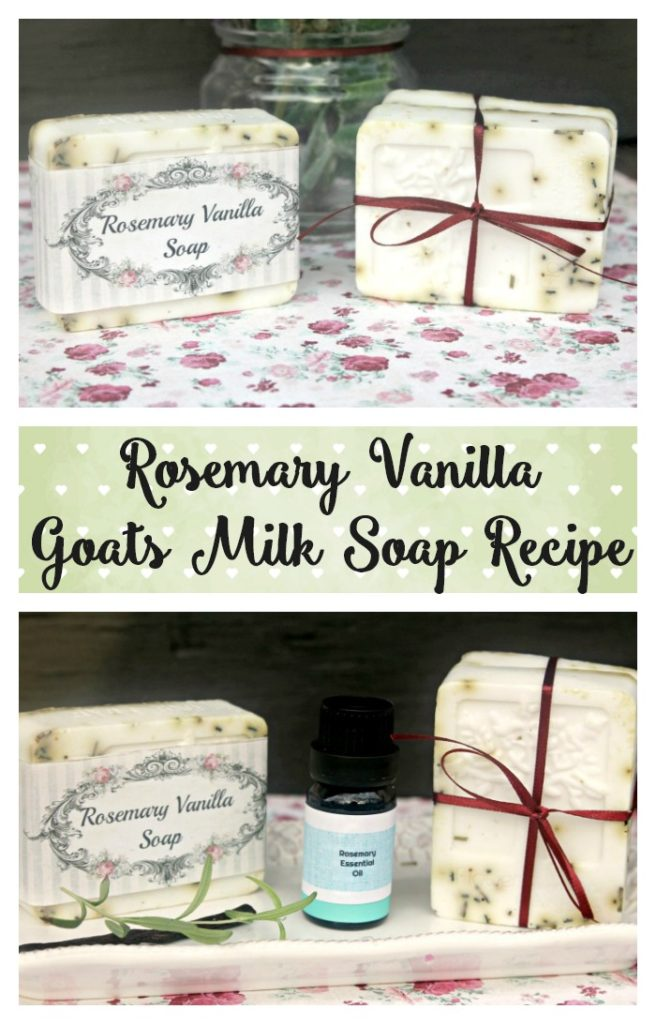 I love to make my own soap! I use natural ingredients and it is so much cheaper than store bought soaps. My DIY Rosemary And Vanilla Goats Milk Soap Recipe will have your skin feeling so soft!