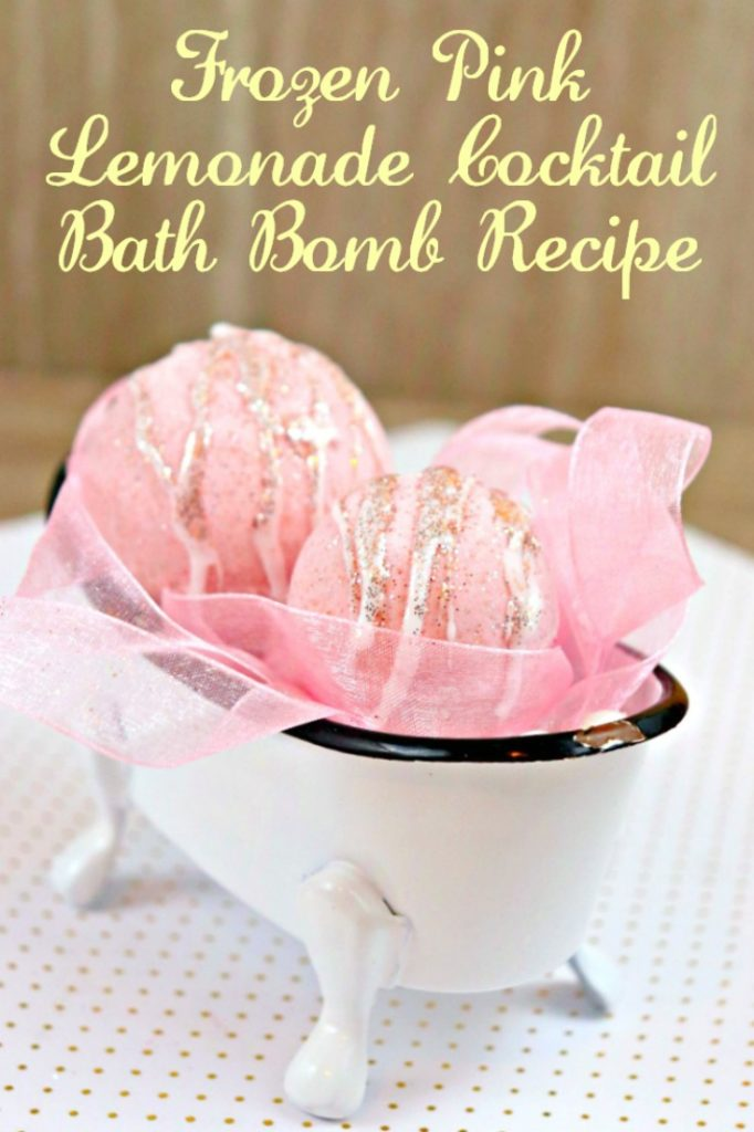 This Frozen Pink Lemonade Cocktail Bath Bomb Recipe awakens your senses and creates a craving for summer! Make it better by sipping a cocktail while soaking in the tub!!