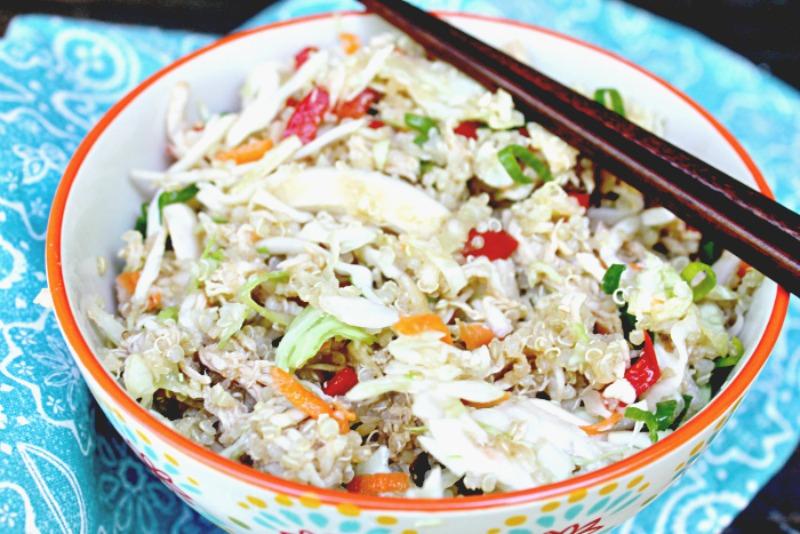 Healthy Asian Quinoa Chicken Salad Recipe 5