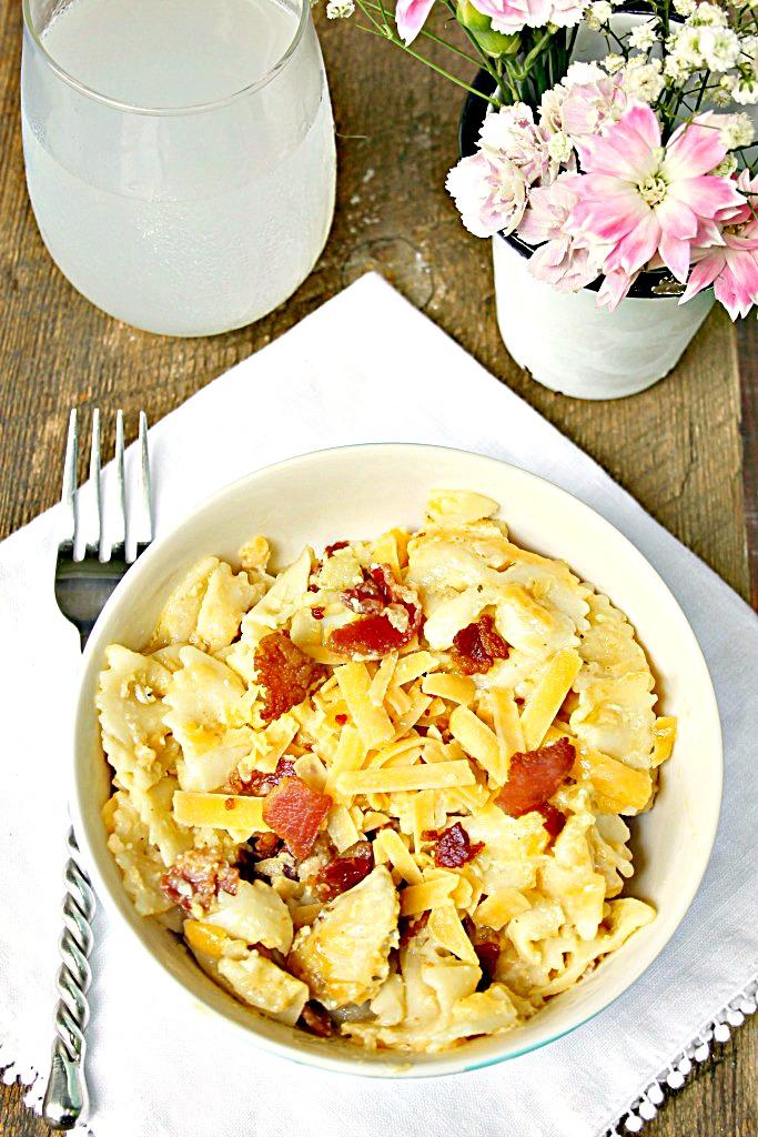 Instant Pot Chicken Bacon Ranch Pasta Recipe