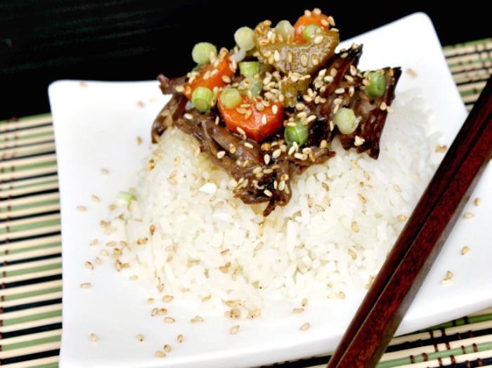 Slow Cooker Sweet Korean BBQ Beef Recipe