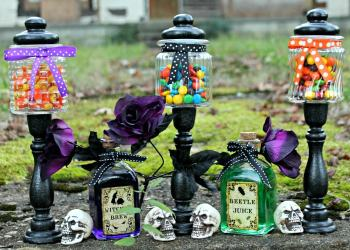 Easy DIY Halloween Candy Jar Craft
