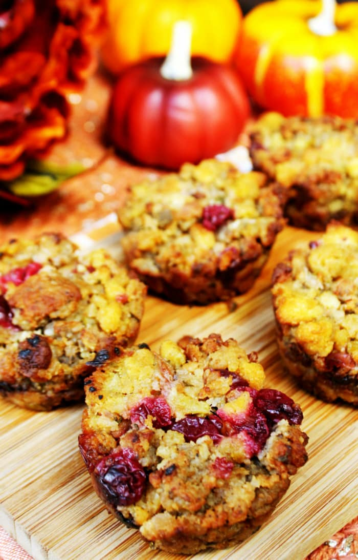 Cranberry And Sausage Herb Stuffing Muffins