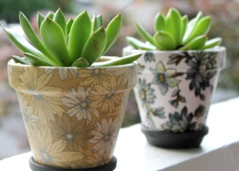 Easy DIY Fabric Covered Flower Pots Craft