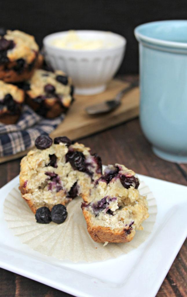 Blueberry-Banana Oat Breakfast Muffins 5