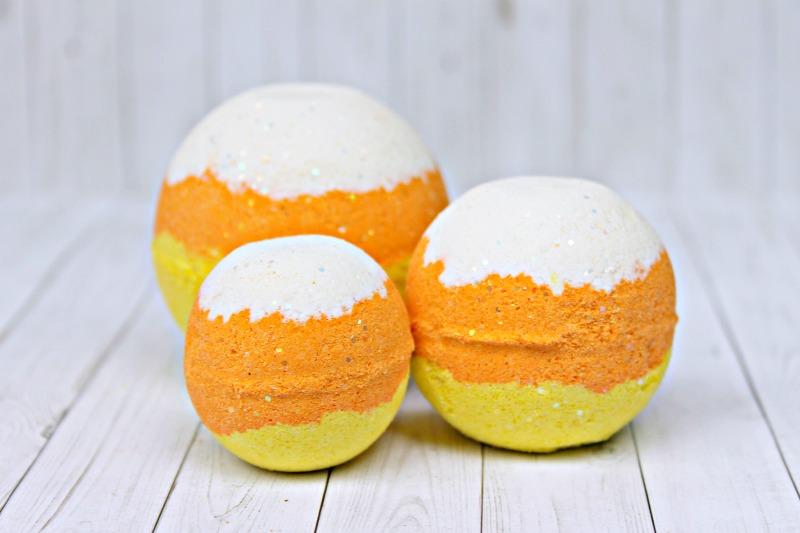 Candy Corn Bath Bombs