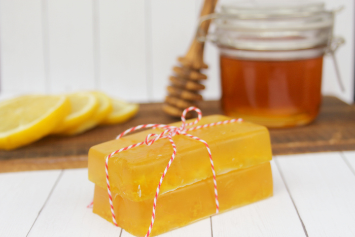 DIY Honey And Lemon Essential Oil Soaps