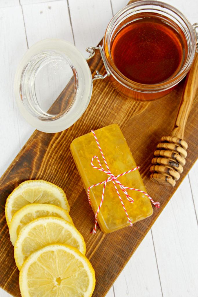 DIY Honey And Lemon Essential Oil Soaps 3