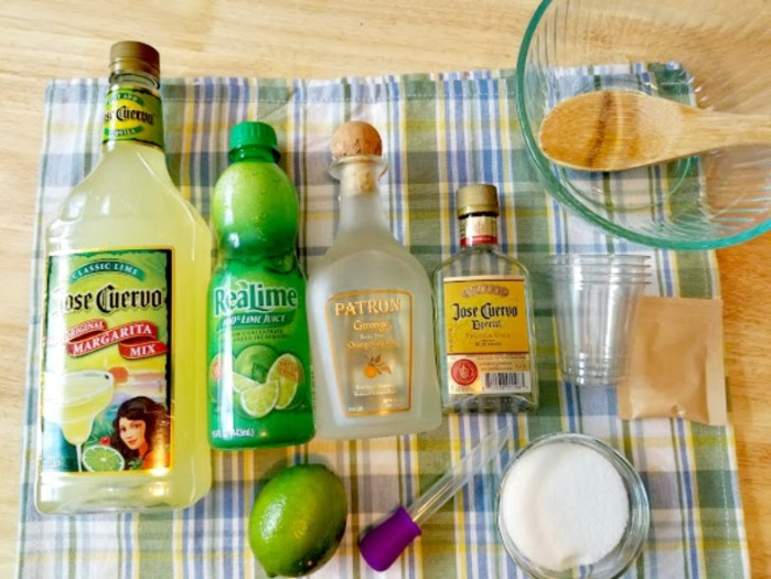 Margarita Jello Shots Ingredients with alcohol