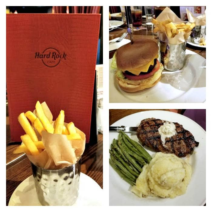 Hard Rock Cafe Pigeon Forge main dishes