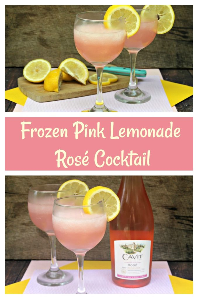 When it is hot outside, I love to col off with my favorite drink, my easy to make Frozen Pink Lemonade Rosé Cocktail recipe #ad #BBSpringCool