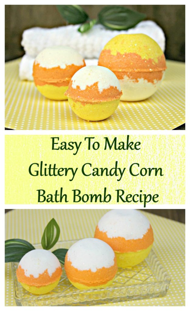 Did you know one of the large bath bombs from a boutique shop can cost more than $10? When you make this Candy Corn Bath Bomb Recipe, you can save over $9!