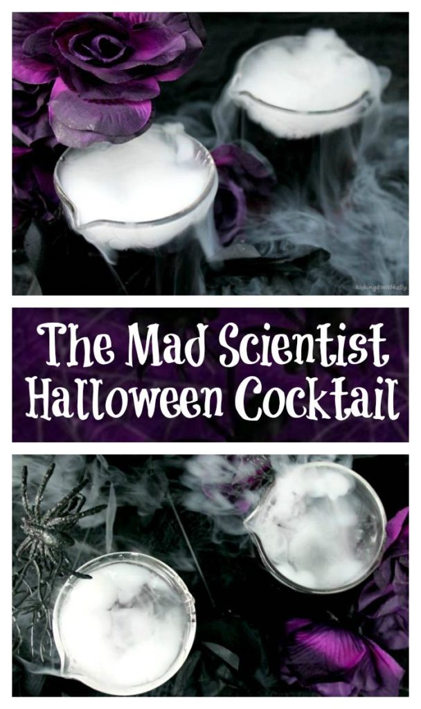 The Mad Scientist is a fun Halloween cocktail recipe that is as visually stunning as it is tasty! It is the perfect Halloween party cocktail idea.