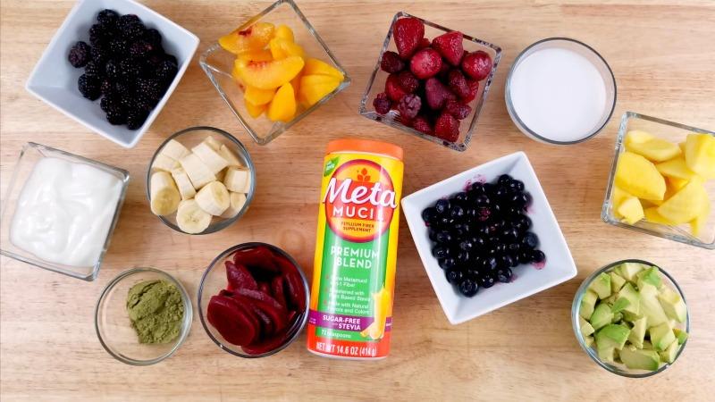 Greek Yogurt Rainbow Smoothie Recipe ingredients