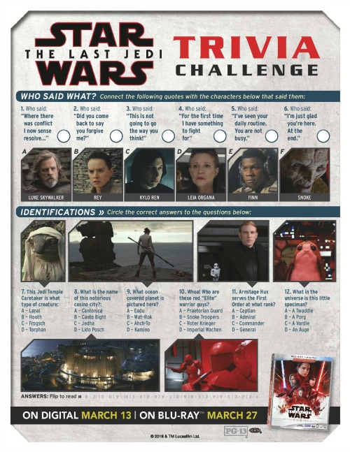 Star Wars: The Last Jedi activity page1