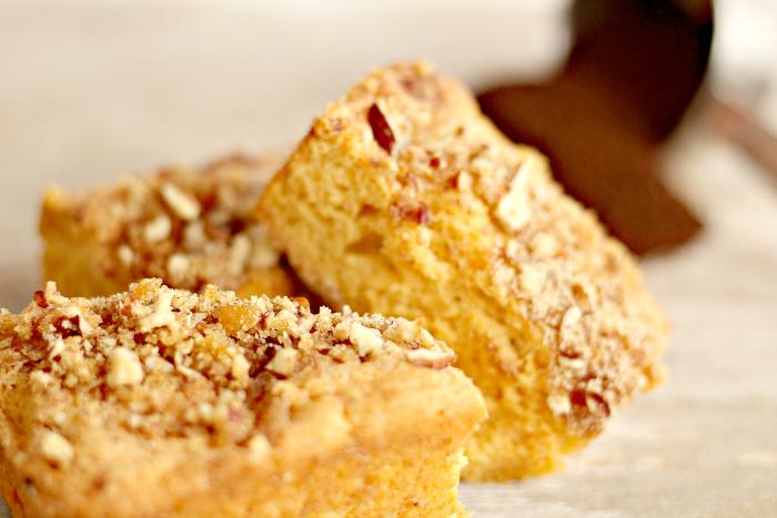Butterscotch Pecan Coffee Cake Recipe Close Up