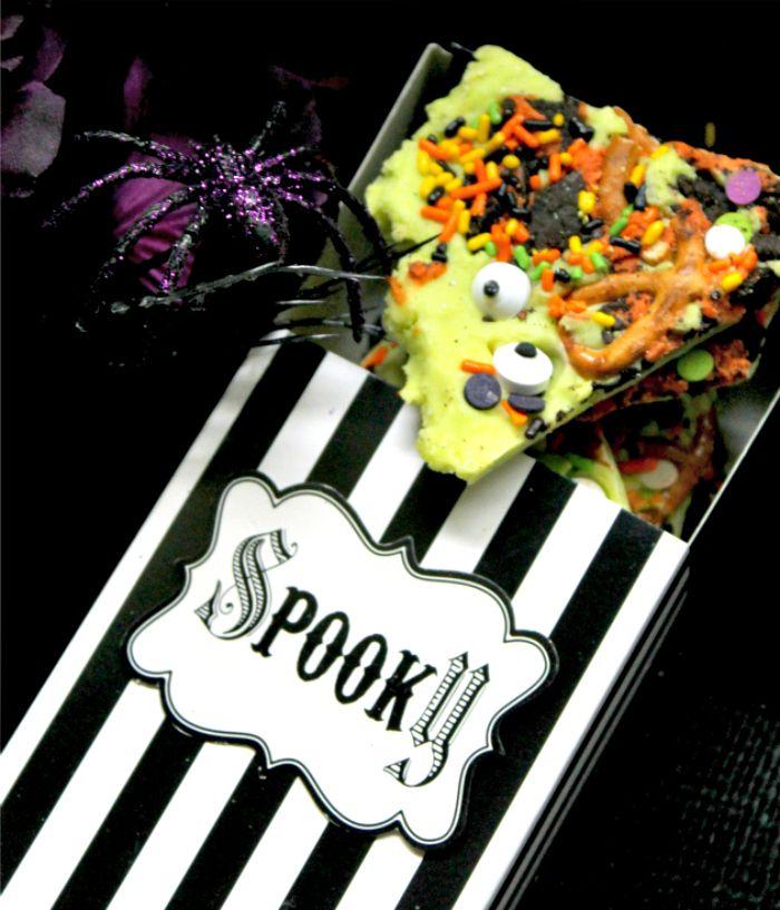 Spooky Halloween Candy Bark 2