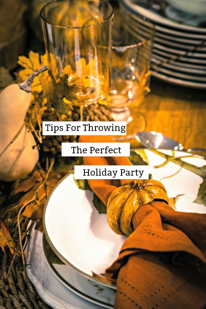 Thanksgiving is just around the corner! Can you believe it? Here are some great tips for Planning The Perfect Holiday Party including a great recipe!