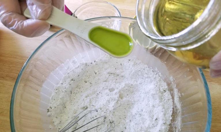 Lavender Essential Oils Bath Bomb Fizzies Recipe step3