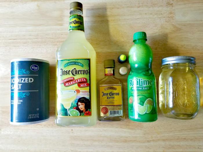 Homemade Margarita Lime Body Scrub ingredients
