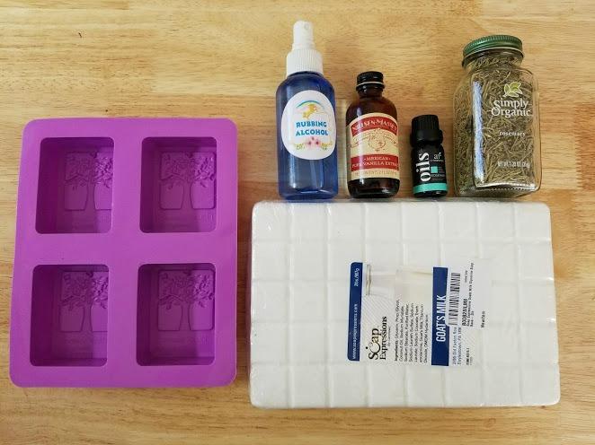 Rosemary And Vanilla Goats Milk Soap Recipe ingredients