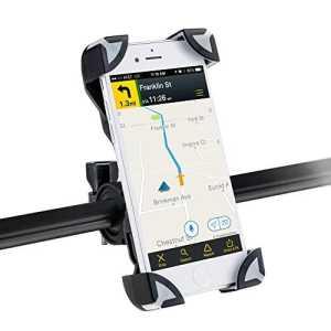 AGPtek Support Vélo du Guidon Support Bicyclette Moto Berceau Universel pour tous les smartphone 3.5–7pouce,Support pour iPhone4-7, Sumsung S, Note, etc. (Noir et Gris)