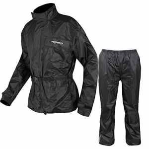 Combinaison Textile Impermeable Anti Pluie Blouson Pantalon Moto Motard noir M