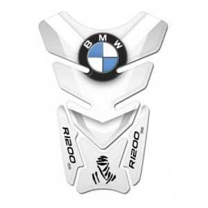 Coussin Autocollant de réservoir en résine 3D pour moto BMW R1200,GS Dakar, Code produit DA-008 L Bianco