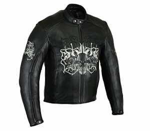fils d'Anarchy motard Veste pour homme Veste moto Tête de mort à broder Style 3XL