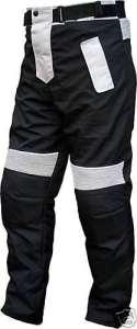 German Wear Pantalon de Moto Cordura Textiles Pantalon de Moto Combi, Noir/Gris Clair, FR: 62 (Taille Fabricant 60)