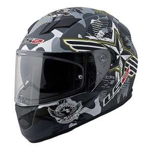 LS2 Stream Veteran 2 Full Face Motorcycle Helmet With Sunshield (Gray/Black, X-Large) by LS2 Helmets