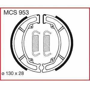 Machoires de freins Lucas MCS953 pour Peugeot Tweet 125 LW2 – 4 Takt | Sachs / SFM-Bikes Roadster 125 V2 | SYM VS 125 HA15A | Triumph TT 600 36A | Triumph TT 600 59X | Yamaha Aerox 100 SB05 | Yamaha