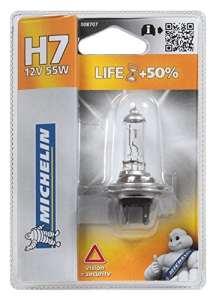 Michelin 008707 Life +50% 1 Ampoule H7 12 V 55W