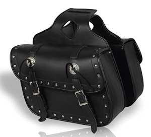 Moto Selle en cuir Poches (1Paire) bagages Sacoche de selle Chopper