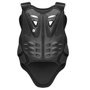 Pellor Plastron gilet moto cross armure protecteur le dos et la poitrine pour moto vélo ski (L)