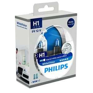 Philips WhiteVision effet xénon H1 pour éclairage avant 12258WHVSM, blister de 2