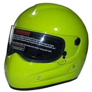 possbay Casque de moto moto visage complet Racing de cyclisme coupe-vent anti-poussière d'équitation XXL Vert