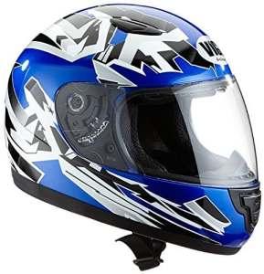 Protectwear Casque de Moto pour Enfant, Blue/Blanc – XXS (Youth M) = 51-52 cm