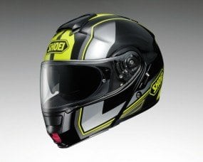 Shoei Neotec Imminent Flip Front Motorcycle Helmet S Black Yellow (TC-3)