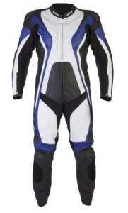 Spada moto cuir costume 1 pièce courbe Black/Blue/White