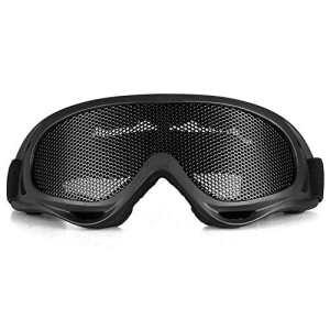 CARCHET® Noir Lunettes Goggle Glasses Protection en Maille pour Airsoft CS Tactique