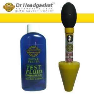 Dr Headgasket FX-53 Kit de test d'étanchéité de bloc moteur de moteur à combustion– Pou joint de culasse et bloc moteur de moteur essence ou diesel 100ml